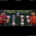 Champion league Team of the Season 2020