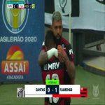 Santos 0 - [1] Flamengo - Gabriel Barbosa 45+5'