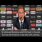 """Arthur:""""I can only say wonderful things about Barcelona and all the supporters, but here at Juventus I was treated with great care as part of a very ambitious and interesting project."""""""