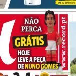 Portuguese newspaper Record gives away Cavani toy as Nuno Gomes after Benfica transfer fails