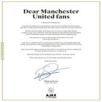 Van Der Sar's Open Letter to United Fans on MEN
