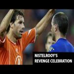 On this day in 2005 Ruud van Nistelrooy scored and celebrated in front of his opponent, after the opponent laughed at him for missing a penalty earlier.