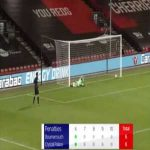 Bournemouth vs Crystal Palace - Full penalty shootout (11-10)