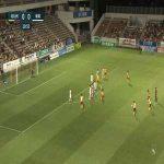 Giravanz Kitakyushu (1)-0 Albirex Niigata - Kenta Fukumori free kick goal