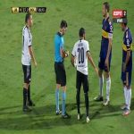 Antonio Bareiro (Libertad) second yellow card against Boca Juniors 86'