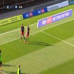 Oxford United 0 - [2] Sunderland, Lynden Gooch 82'