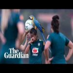 A Brazilian women's national team practice match was halted after a parrot landed on the head of one of the players. Defender Bruna Benties had a macaw standing on her head before an assistant coach was brought in to try and get the bird off her head with a football