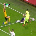 Raheem Sterling dive vs Wolves 2'