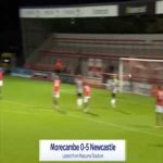 Morecambe 0-5 Newcastle - Isaac Hayden 45'+2'