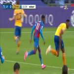 Zaha yellow card vs. Everton