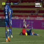 Aurelien Tchouameni (Monaco) second yellow card against Strasbourg 55'