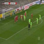 Friburg 1-[1] Wolfsburg - Josip Brekalo free-kick 42'