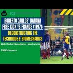 "[OC] Deconstructing Roberto Carlos' classic ""banana"" free kick vs France (1997) 
