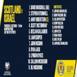 OFFICIAL : Scotland line up to play Israel in the playoff semi final.