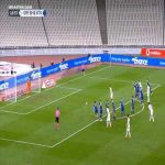 Arijanet Muric (Kosovo) penalty save against Greece 18'