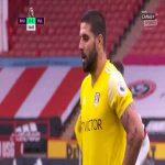 Aleksandar Mitrović (Fulham) PK miss vs. Sheffield United (57')