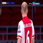 Ajax Vs Liverpool | Klaassen hits the post 46''