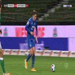 Bremen 1-[1] Hoffenheim - Dennis Geiger 22'
