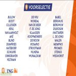The Netherlands national team preliminary squad for the nations league matches versus Bosnia-Herzegovina and Poland and friendly versus Spain