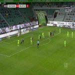 Wolfsburg 1-0 Arminia Bielefeld - Wout Weghorst 19'