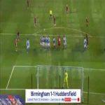 Birmingham 1-[1] Huddersfield - Isaac Mbenza free-kick 85'