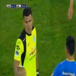 Javier Rojas Iguaro (Bolivar) straight red card against Audax Italiano 88'