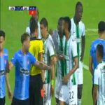 Yerson Mosquera (Atletico Nacional) straight red card against River Plate (Uru) 45'+3'