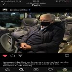 Jose Mourinho on Instagram. He's not happy