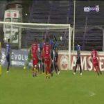 Liverpool Fútbol Club 0-1 Huancayo [1-2 on agg.] - Daniel Morales free-kick 42'