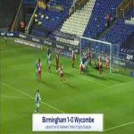 Birmingham 1-0 Wycombe - Marc Roberts 40'
