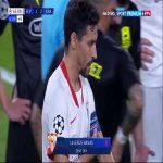 Jesús Navas (Sevilla) red card vs. Krasnodar (45+5')