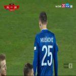 Miedź Legnica [1]-1 Widzew Łódź - Nemanja Mijušković 90+2' (Polish I liga)