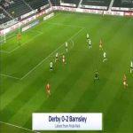 Derby 0-2 Barnsley - Victor Adeboyejo 83'