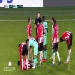 Derrick Arthur Kohn (Willem II) straight red card against PSV 64'
