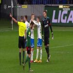Guilherme (Lokomotiv Moscow) straight red card against Dinamo Moscow 64'
