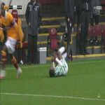 Motherwell vs Celtic: Cole challenge on Frimpong (yellow card) 53'