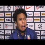 Weston Mckennie stubs toe during interview