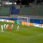 Shahrudin Mahammadaliyev (Azerbaijan) penalty save against Luxembourg 45'+2'