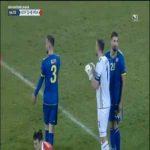 Ibrahim Dresevic (Kosovo) straight red card against Moldova 85'