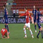 Lucas Bernadou (FC Emmen) straight red card against AZ Alkmaar 61'
