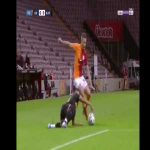[Handball] Muğdat Çelik's -former Galatasaray player- handball against Galatasaray this evening. He also caused a penalty and sent off in the 2nd half.