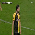 Yevgeniy Shakhov (AEK) second yellow card against Zorya 49'