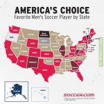 Favorite Men's Soccer Player of Each State
