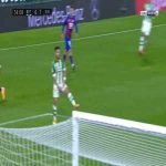 Takashi Inui (Eibar) disallowed goal for offside against Betis 34'