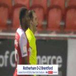 Rotherham 0-2 Brentford - Ivan Toney penalty 82'
