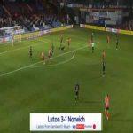 Luton [3]-1 Norwich - James Collins penalty 47'