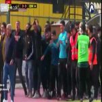 Match today between Al Talaba and Al Qasim in the Iraqi league was being held at Al Karakh stadium. The manager of Al Karakh and formerly of Al Talaba Karim Salman passed away yesterday due to Covid His funeral entered the stadium in order for him to say goodbye. Former Players broke down in tears.