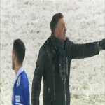 Slaven Belupo (and manager Tomislav Stipić) celebration in the snow