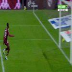 Rayan Cherki (Lyon) straight red card against Metz 90'+4'