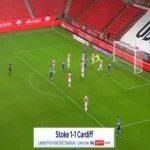 Stoke 1-[1] Cardiff - Robert-Nesta Glatzel 66'